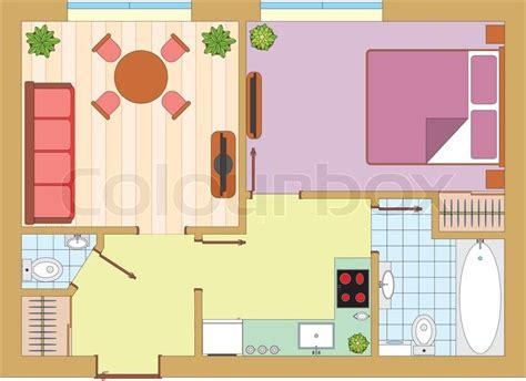 Wohnung Zeichnung by Wohnung Zeichnung Vektorgrafik Colourbox