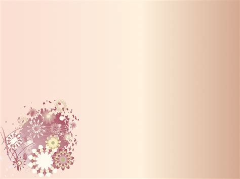 Cute Floral Corner PPT PPT Backgrounds   Border & Frames