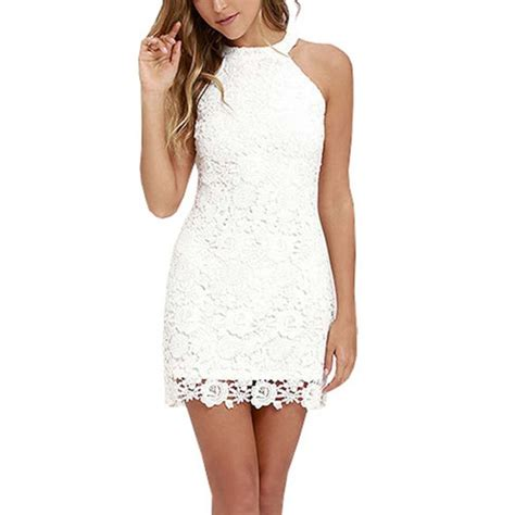 lace short dress cocktail shopstyle sexy women turtleneck sleeveless lace evening party