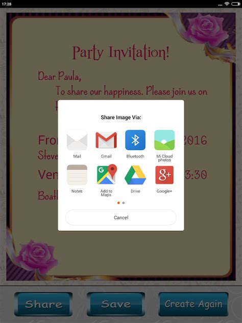 design invitation card app party invitation card designer android apps on google play