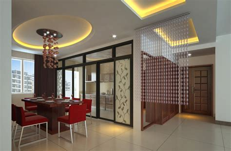 Dining Room And Kitchen Partition Dining Room Kitchen And Glass Partition 3d House