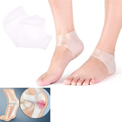 Foot Care Tips To Avoid Cracked Heels by 2pcs New Silicone Moisturizing Gel Heel Socks Cracked Foot