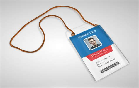 Free Employee Id Card Template Psd by 10 Free Employee Id Card Design Templates Mockups