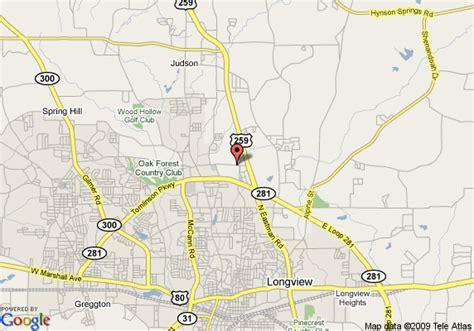 map longview texas map of la quinta inn suites longview longview