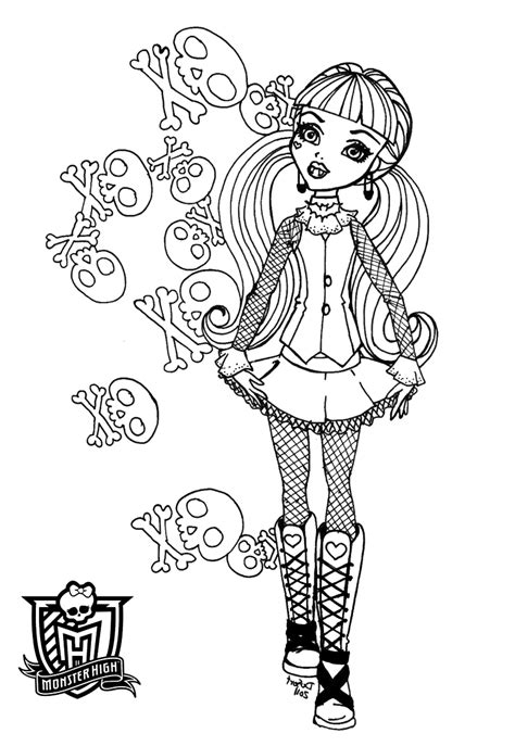 monster high coloring pages to play free printable monster high coloring pages for kids