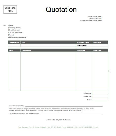 business letter sles quotation 44 sle quotation letter for cleaning services