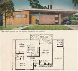 mid century ranch house plans mid century california modern house plan better homes garden five mid century house plans