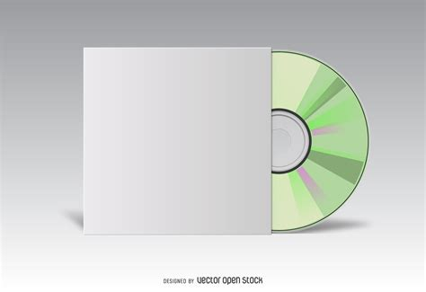 Cover Cd Cd Cover White Mockup Vector
