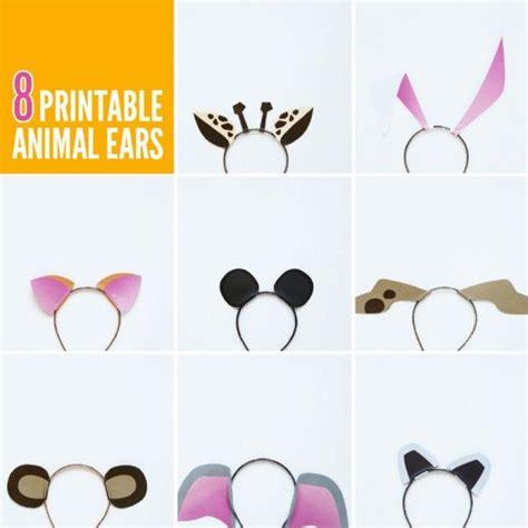 Eight Free Printable Animal Ears Templates Via Pagingsupermom Best Of Pinterest Pinterest Jam Paper Templates