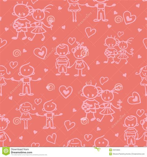 love pattern background vector couples in love seamless pattern background stock vector
