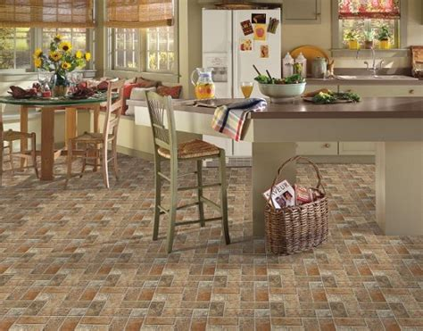 Kitchen Floor Ideas by Kitchen Floor Tile Designs By Armstrong Lancelot Cinnabar