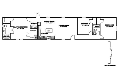 manufactured home floor plan 2009 clayton bayview select