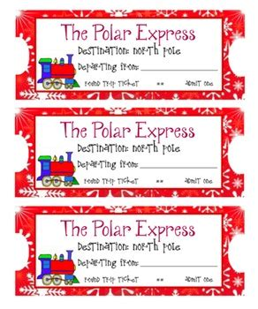 printable minivan express tickets polar express train tickets by kids and coffee tpt