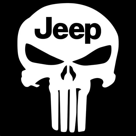 jeep vinyl decals jeep punisher skull decal vinyl sticker wrangler cj
