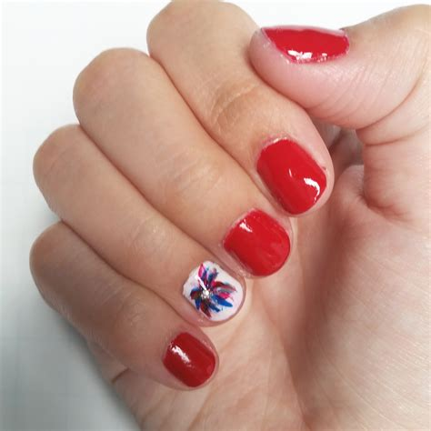 Simple 4th Of July Nail