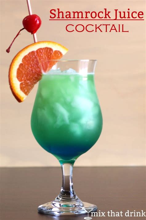 cocktail recipes shamrock juice cocktail recipe mix that drink