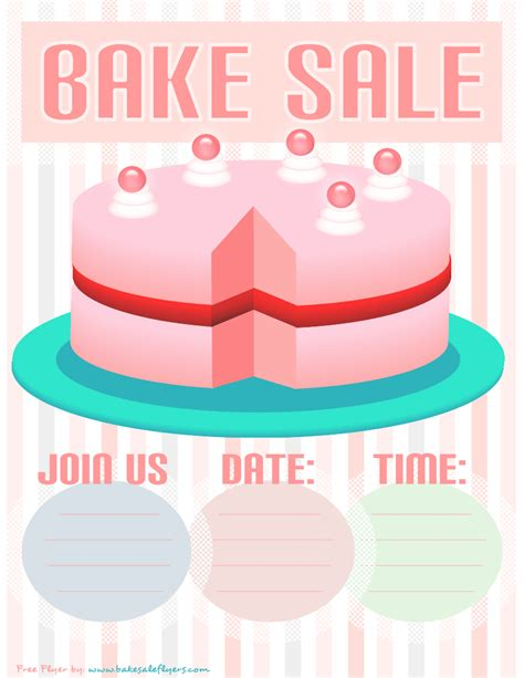 bake sale flyer template free bake sale flyer template free
