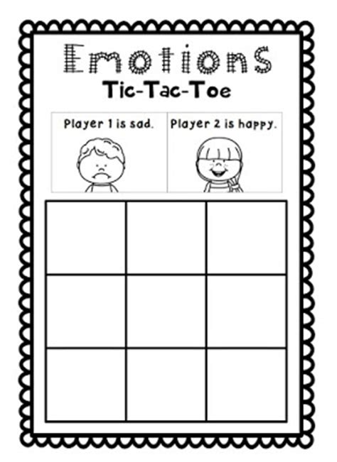 Tic Tac Toe Template For Teachers by Roller