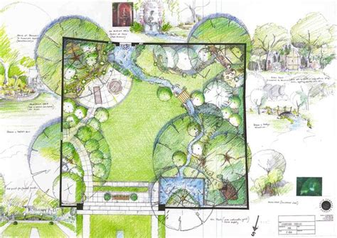large garden layout design 595 best images about zahradn 237 pl 225 ny on pinterest trees