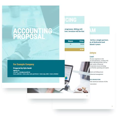accounting proposal template free sle