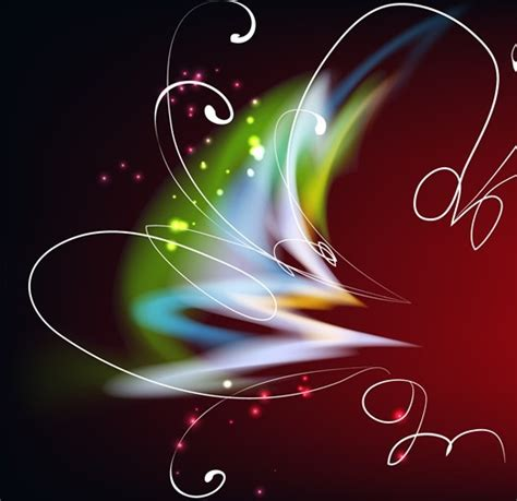 Free Bright Colorful Abstract Line Flower Background Vector 02 Titanui Ifunny Banner Template