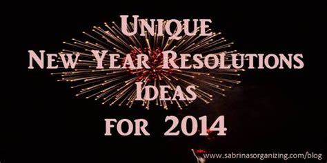 20 unique new year resolutions ideas