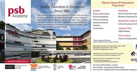 Mba Psb Singapore by Study In Singapore Scholarships For Mba And Beng At Singapore