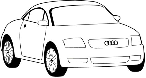 simple coloring pages of cars easy car coloring pages