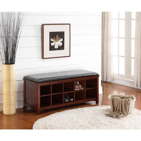 home decor benches linon home decor cape anne walnut bench 850020wal01u the