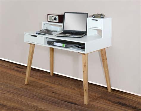 Schreibtische Skandinavisches Design by Sekret 228 R 105cm Retro Skandinavisches Design Vertiko Weiss