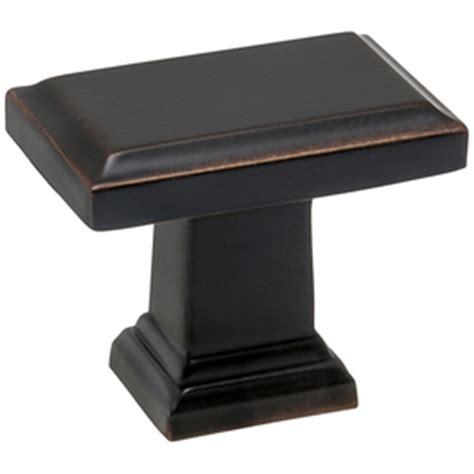 shop allen roth bronze rectangular cabinet knob at lowes