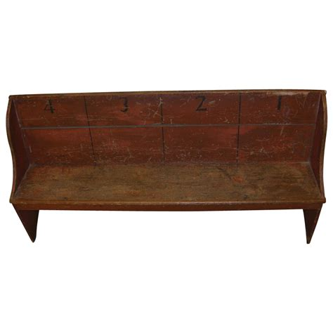 schoolhouse bench rare antique painted numbered amish school bench from