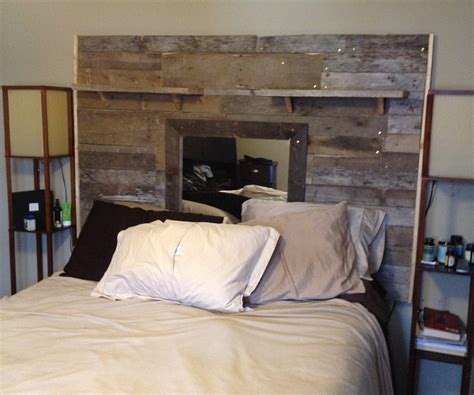 headboard with pallets reclaimed pallet headboard
