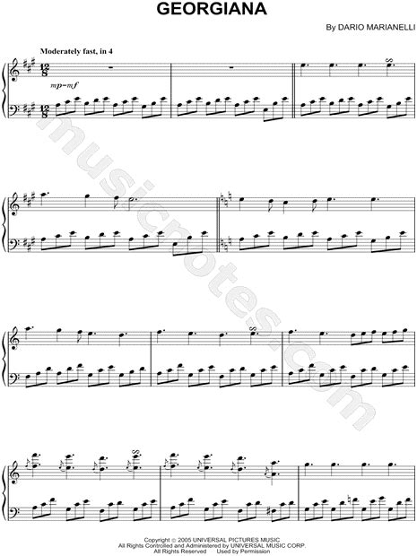 pride and prejudice piano summary episode two quot georgiana quot from pride and prejudice sheet music piano