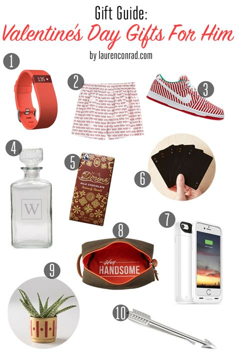 gift guide valentine s day gifts for him lauren conrad