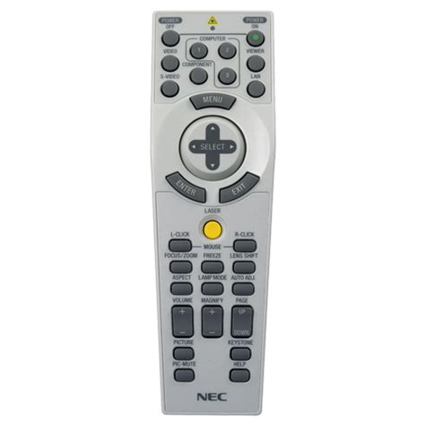 Remote Proyektor Nec Product Nec Replacement Remote For Np4000 Np4001 Projectors