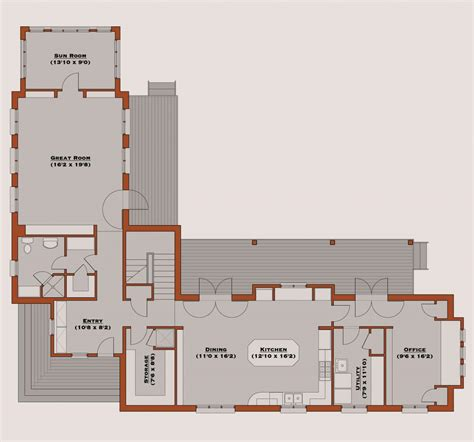 Floor Plans L Shaped House