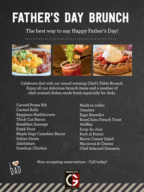 fathers day brunch 2018 s day brunch 6 18 17 granite city food brewery