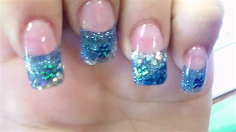 nail art glitter tips tutorial gel glitter nails best nails 2018
