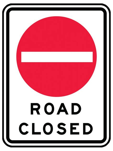 printable road closed signs safety signs safety tags and safety labels by accuform signs