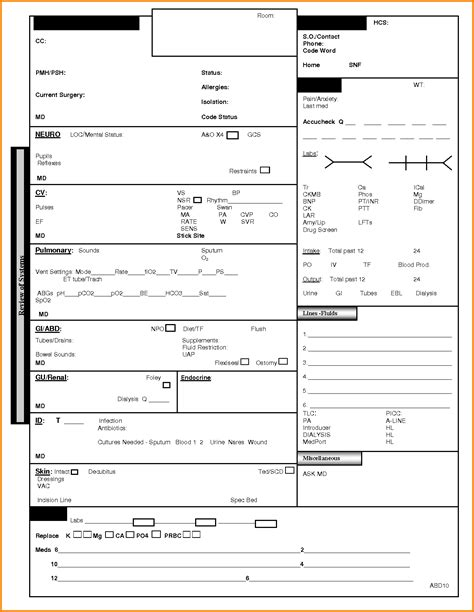 icu report sheet template 28 images icu report