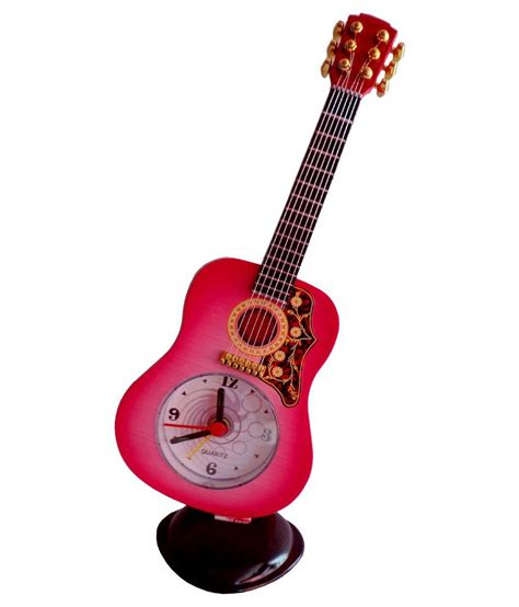 ut handicrafts pink black plastic guitar alarm clock buy ut handicrafts pink black plastic