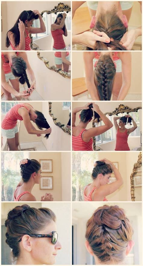 the knot so braided bun diy braided top knot bun pictures photos and images for