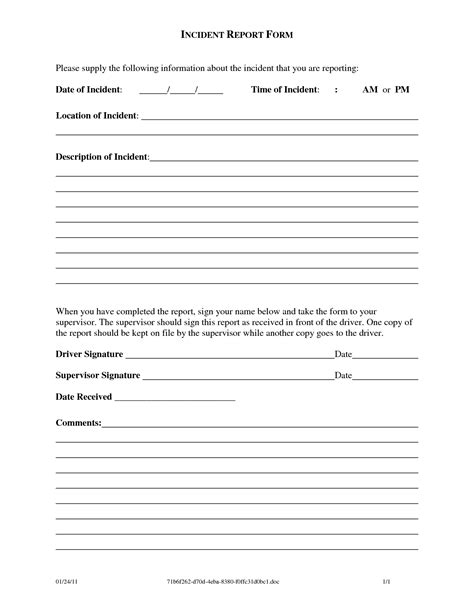 incident report forms templates best photos of work incident report form workplace