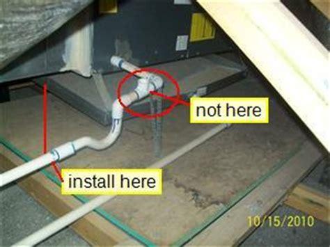 air conditioner condensate drain trap proper installation of air conditioning condensate vent