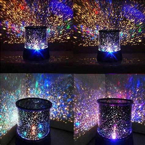 amazing laser projector l sky star cosmos night light star sky projector 4 led bead 360 degree romantic room