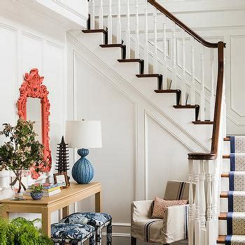 Slipcovered Bench Entryway Wainscoting Design Ideas