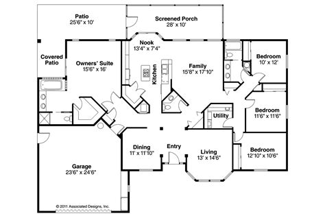 floor plans of houses mediterranean house plans bryant 11 024 associated designs