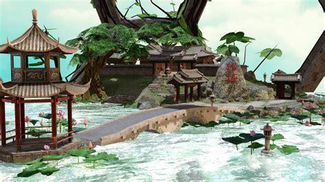 Japanese House Floor Plan Mmd Stage Lotus Pond V1 00 Dl By Samsink On Deviantart