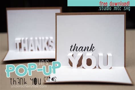 frame pop up card template a cherry tree freebies